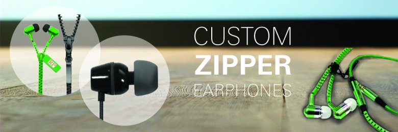 Custom Zipper Earphones