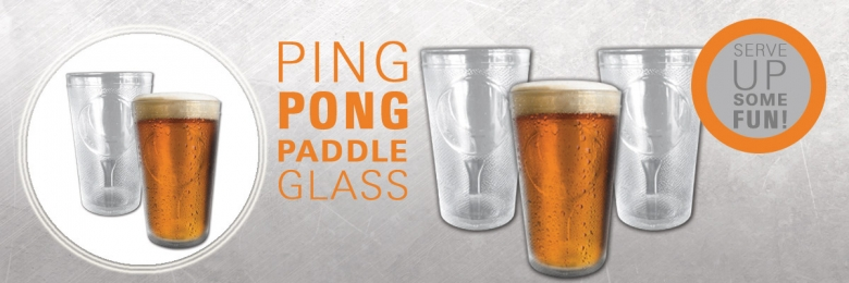 Ping Pong Paddle Glass
