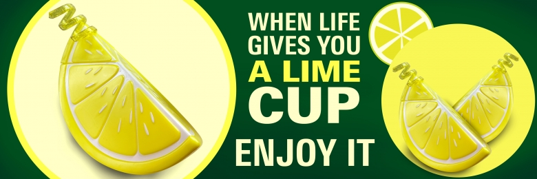 Lime Wedge Cup