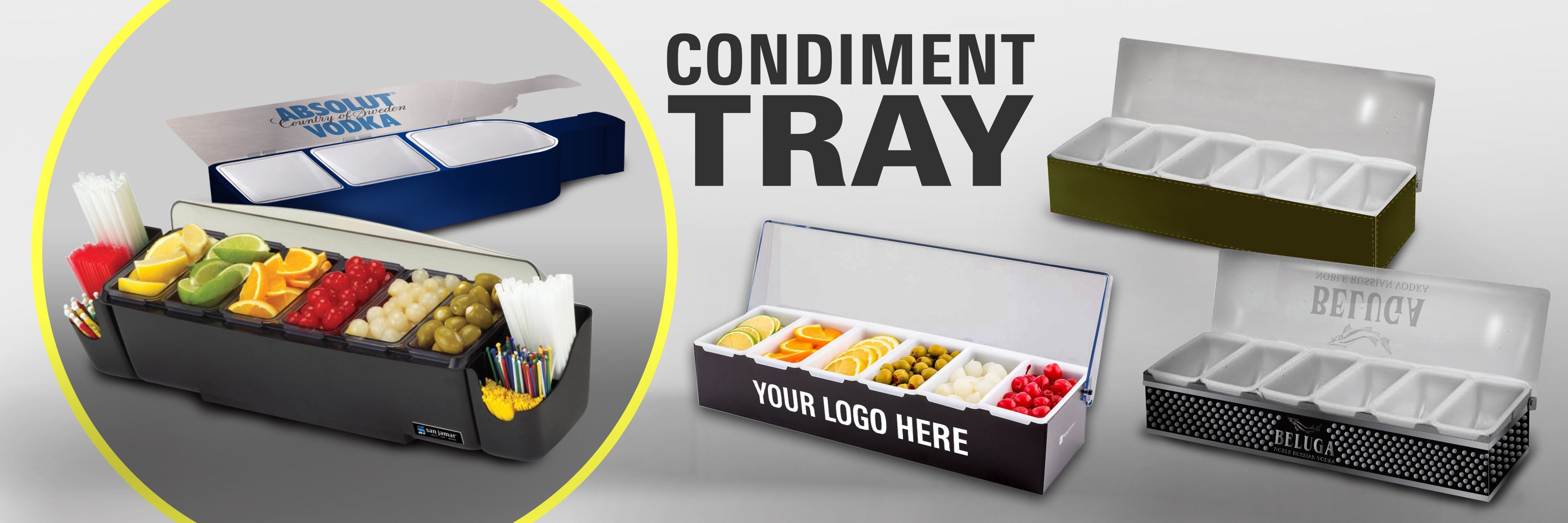 custom condiment tray