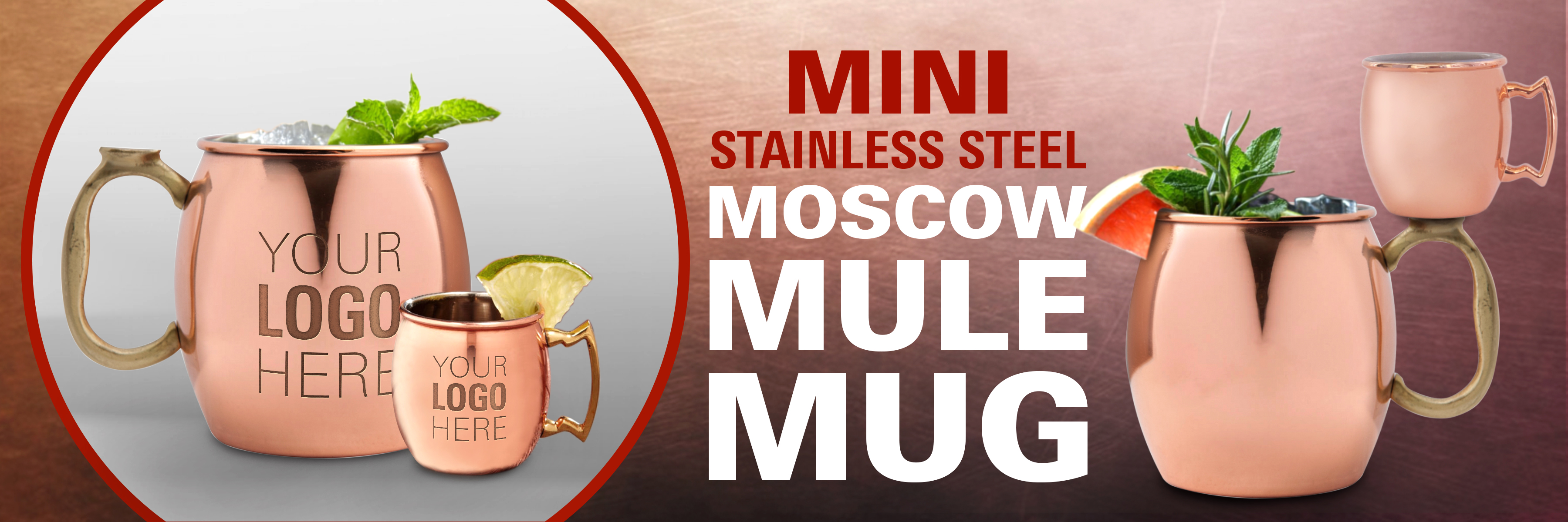 mini stainless steel moscow mule mug