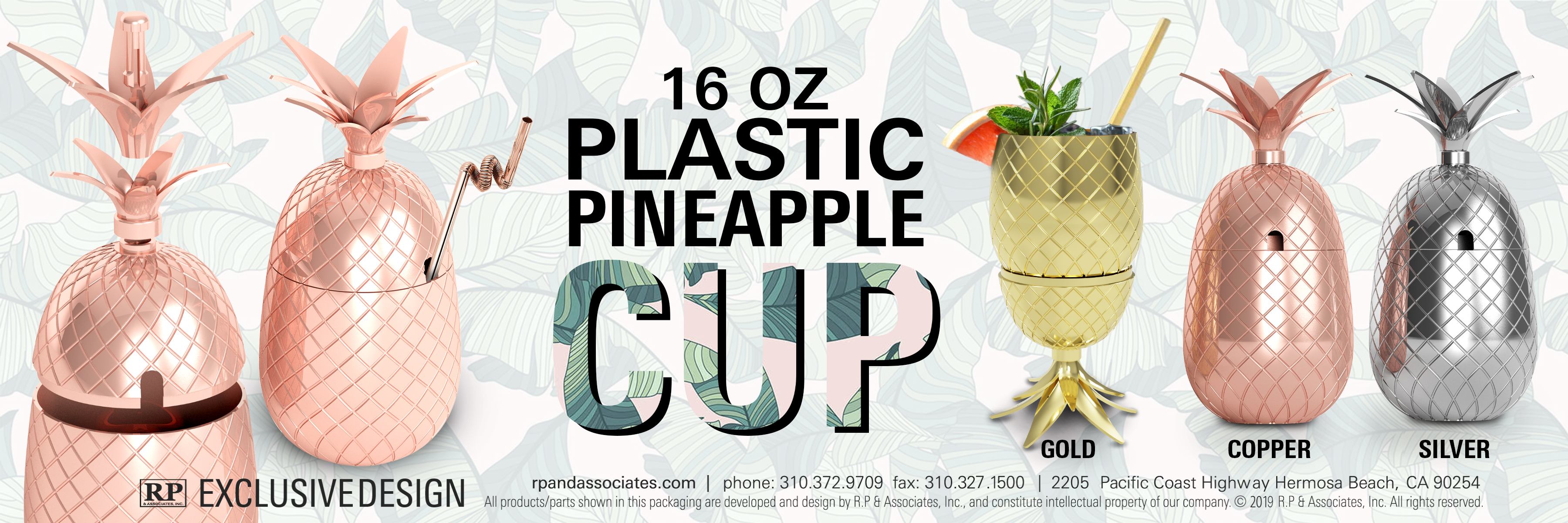 acrylic electroplated pineapple cup