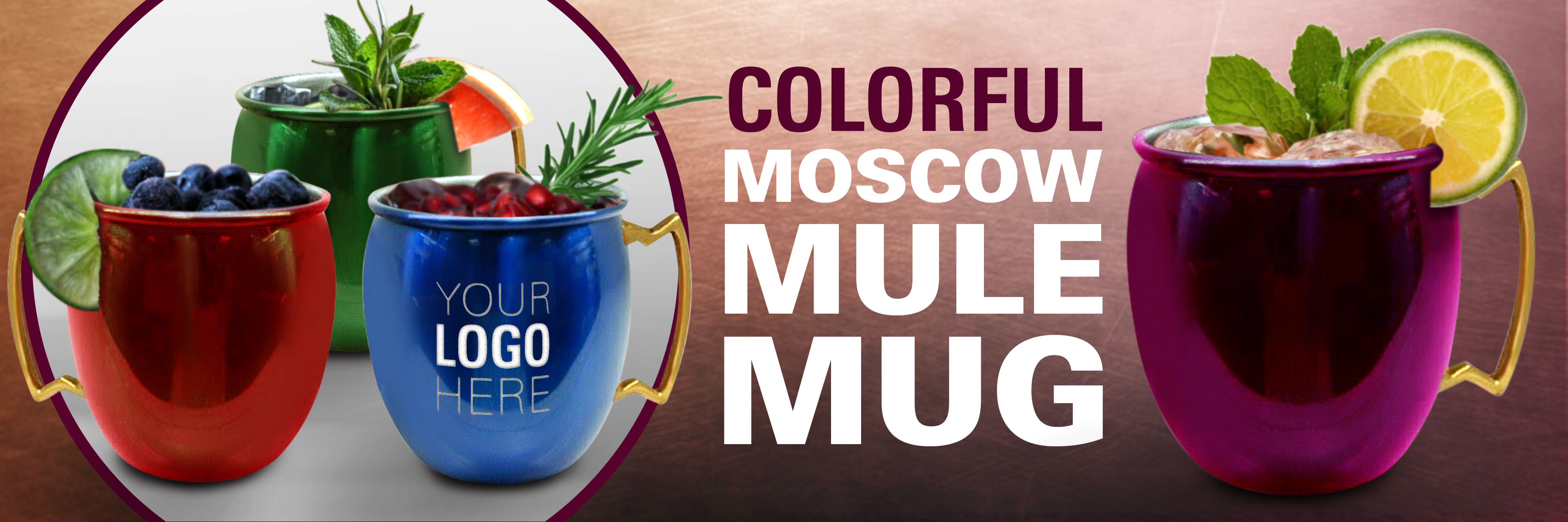 Colorful Moscow Mule Mug Banner