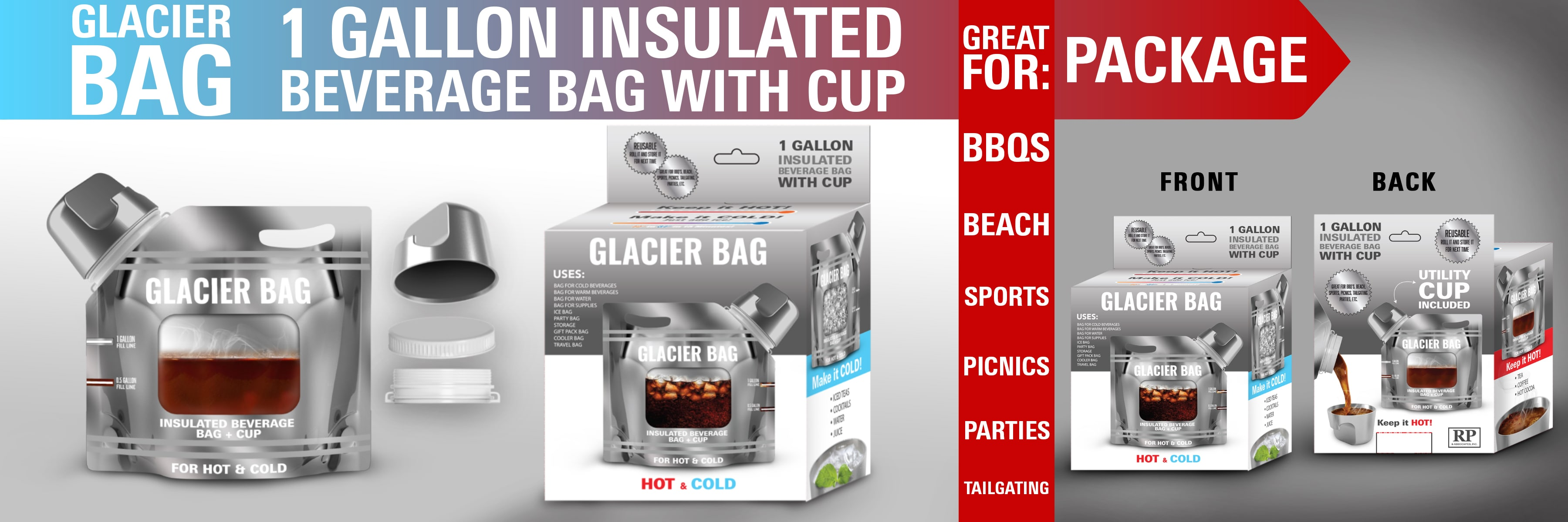 coffee beverage bag retail packaging