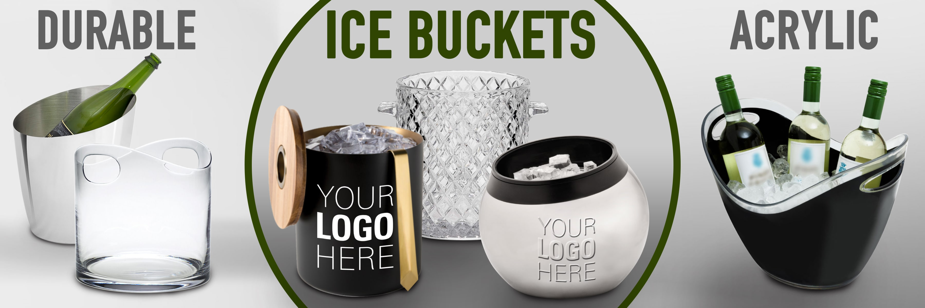 custom ice buckets