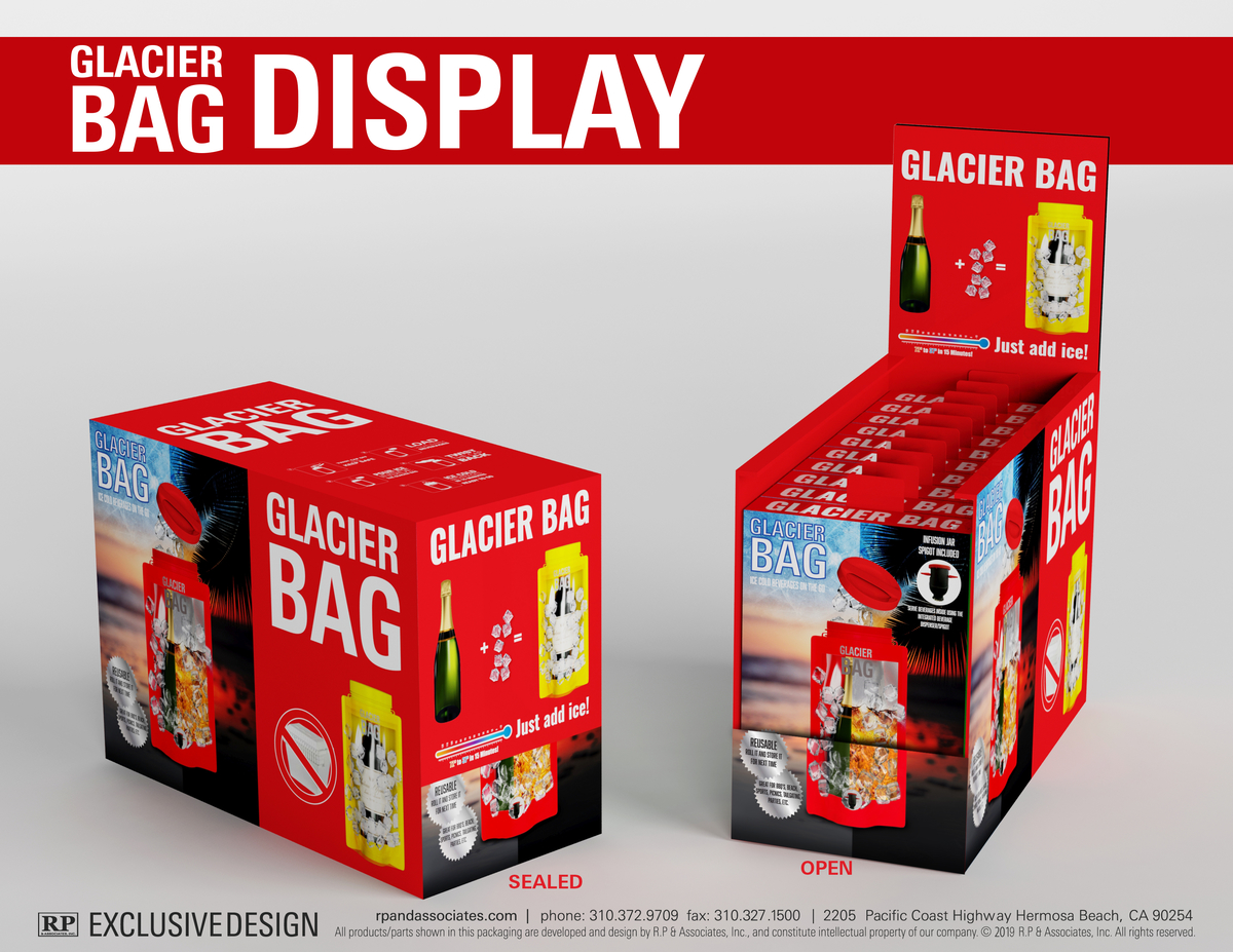 glacier bag retail packaging single bottle