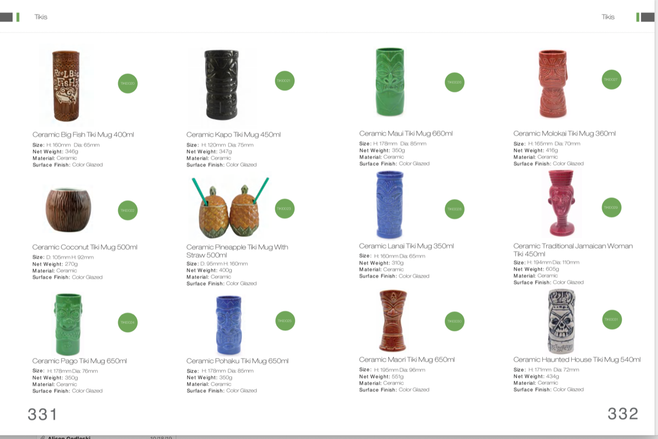 tiki mugs catalog 1