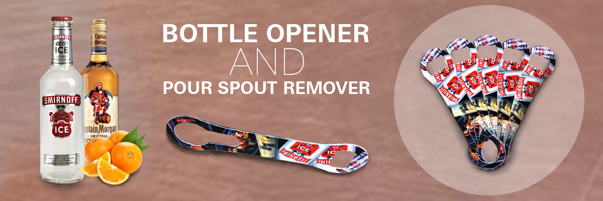 Double Sided Bottle Opener & Pour Spout Remover