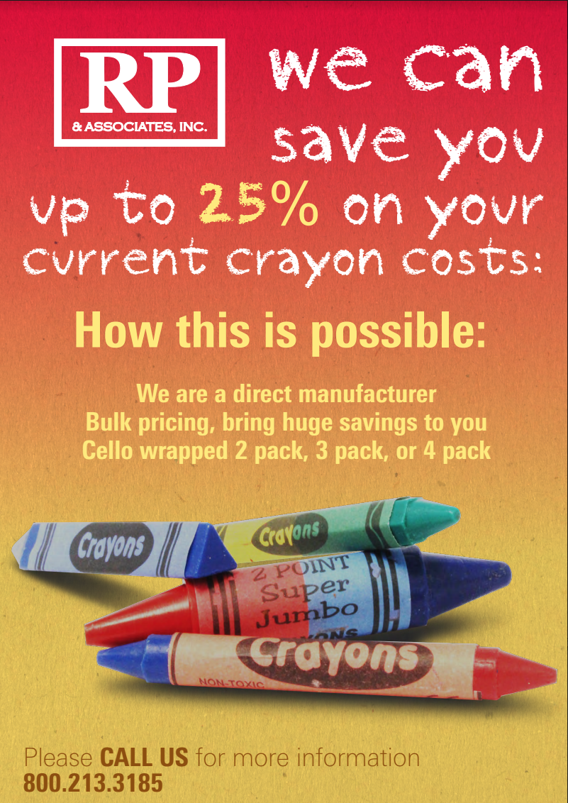 crayons other products custom branded products rp associates