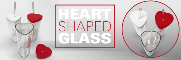 heart shaped glass